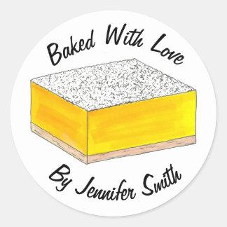 Sticker Rond Cuit au four avec la nourriture personnalisée par