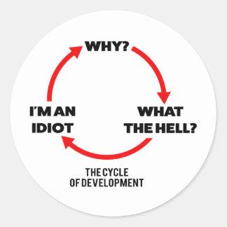 Sticker Rond Cycle du développement