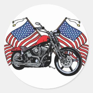 Sticker Rond Cycliste américain