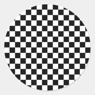 autocollants stickers damier noir et blanc personnalis s. Black Bedroom Furniture Sets. Home Design Ideas
