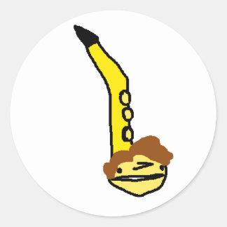 Sticker Rond Daniel comme otomatone