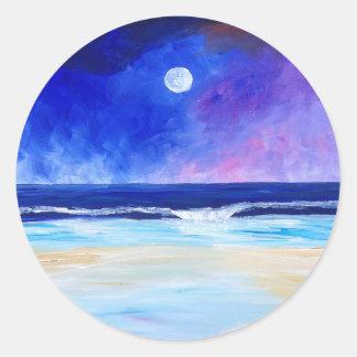 Sticker Rond Danse pour la déclaration réfléchie d'art de lune