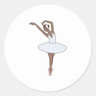Sticker Rond Danseur classique