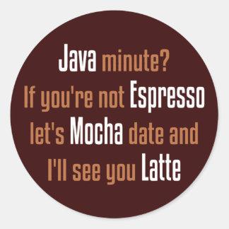 Sticker Rond Date de café