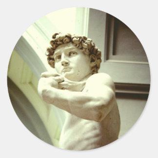 Sticker Rond David - l'image éternelle de Florence