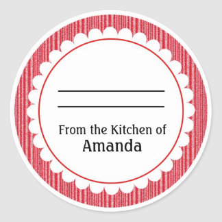 Sticker Rond De la cuisine de l'autocollant, faite pour vous
