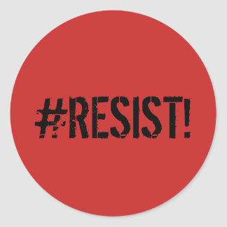 """Sticker Rond décalque d'autocollant de """"#RESIST"""""""