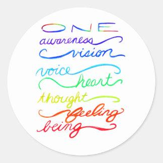 Sticker Rond Décalques faits sur commande d'autocollant de mots