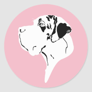 Sticker Rond Décomposer Minimalistic great dane pure