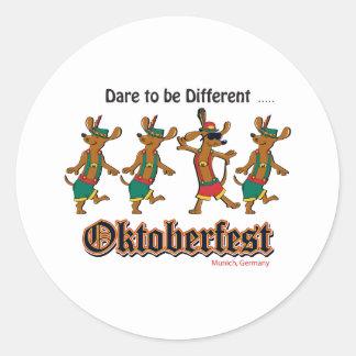 Sticker Rond Défi-à-Être-Différent-Oktoberfest