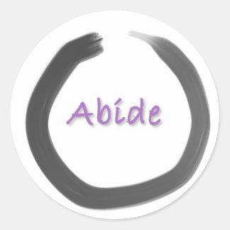 Sticker Rond Demeurez le cercle d'Enso de bouddhiste zen