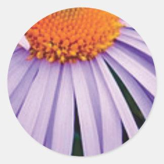 Sticker Rond demi d'art de fleur