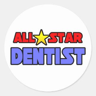 Sticker Rond Dentiste d'All Star