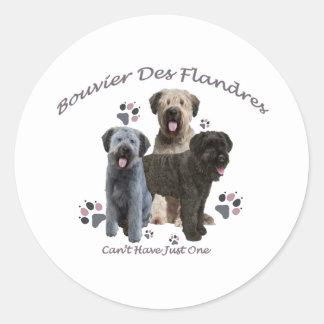 Sticker Rond DES Flandres de Bouvier ne peut pas avoir juste un
