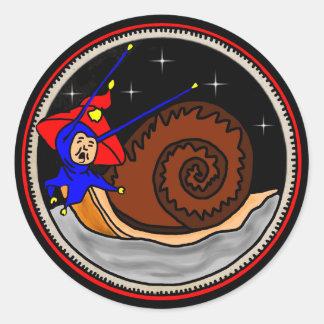 Sticker Rond D'escargot étrange