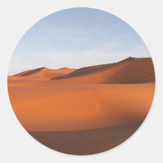 Sticker Rond Désert de sable du Maroc, Afrique du nord-ouest