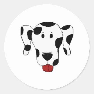 Sticker Rond Dessin dalmatien de chien