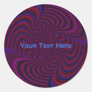 Sticker Rond Dessus de rotation foncé