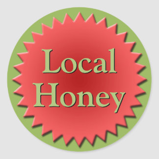 Sticker Rond Dessus local de pot de miel