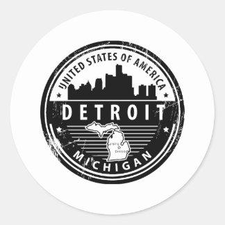 Sticker Rond Detroit, Michigan