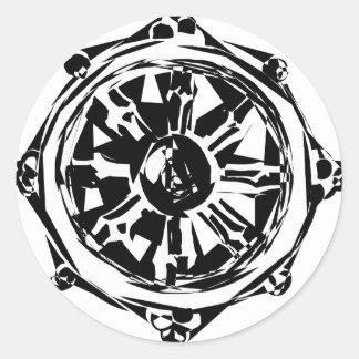 Sticker Rond dharma