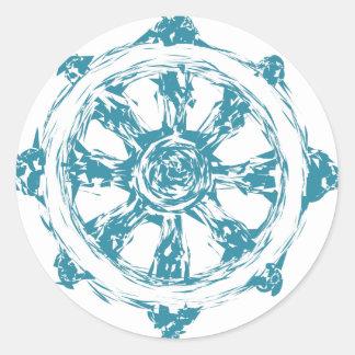 Sticker Rond dharma2