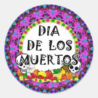 Sticker Rond Dia De Los Muertos