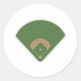 Sticker Rond Diamant de base-ball :