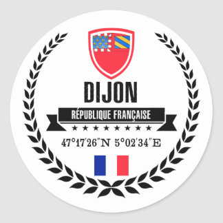 Sticker Rond Dijon