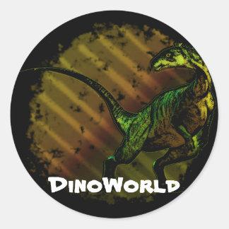 Sticker rond Dinosaure