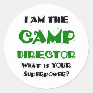 Sticker Rond directeur de camp