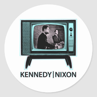 Sticker Rond Discussion 1960 de Kennedy Nixon