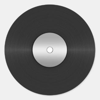 Sticker Rond Disque de LP de Vinyle-Regard