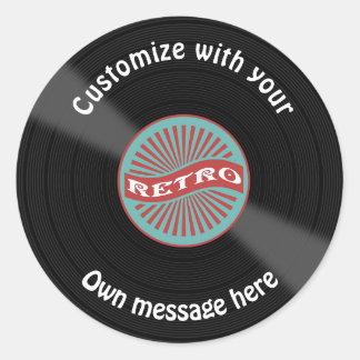 Sticker Rond Disque vinyle customisé