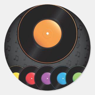 Sticker Rond Disques de plaque tournante dans des couleurs