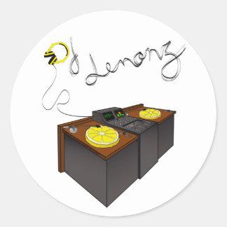 Sticker Rond DJLemonz_tablemix.ai