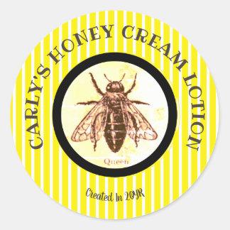 Sticker Rond Do-it-yourself barré par reine des abeilles