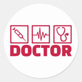 Sticker Rond Docteur