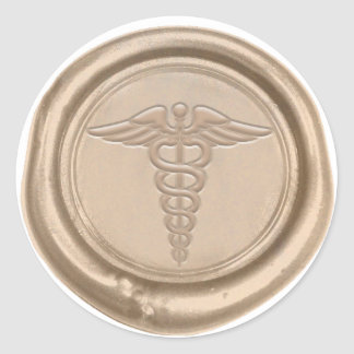 Sticker Rond Docteur médical Wax Seal d'infirmière de symbole