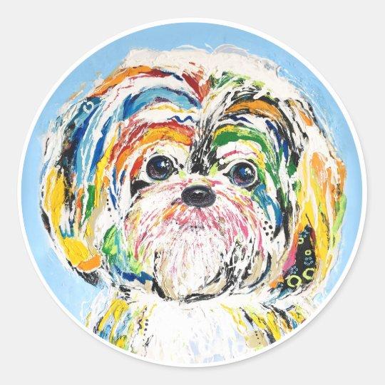 Sticker Rond Dog