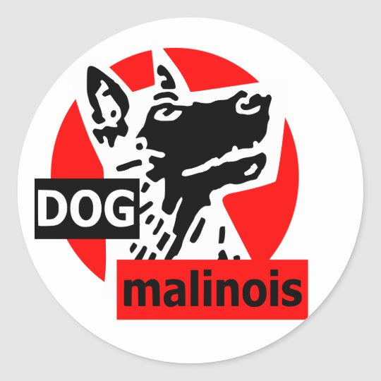 Sticker Rond dogma rouge