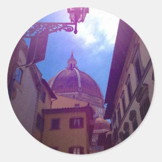 Sticker Rond Dôme de Brunelleschi à Florence, Italie