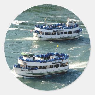Sticker Rond Domestique du bateau de brume : Chutes du Niagara
