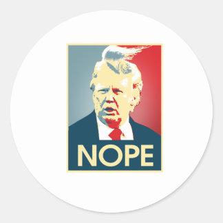 Sticker Rond Donald Trump NOPE -- Anti-Atout 2016 -
