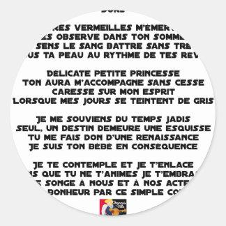 Sticker Rond DORS - Poème - Francois Ville