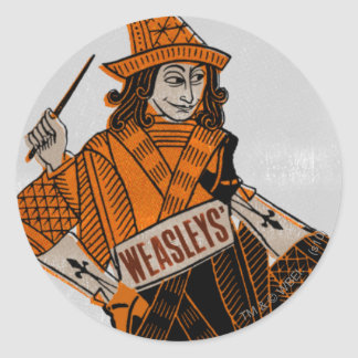 Sticker Rond Dos de la carte de Weasleys