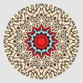 Sticker Rond Douze points de mandala