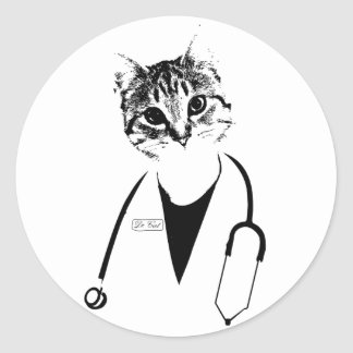 Sticker Rond Dr. chat
