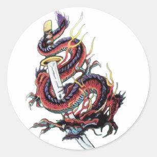 Autocollants stickers dragon japonais - Dragon japonais ...