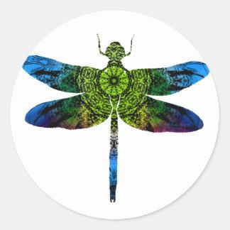 Sticker Rond dragonflyk52017